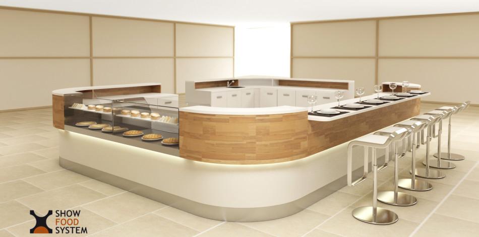 Show food system for Banconi bar usati roma